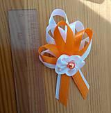 Pierka - Pierko bielo oranžové pre svadobčanov - 12077467_