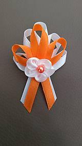 Pierka - Pierko bielo oranžové pre svadobčanov - 12077470_