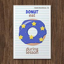Detské doplnky - Linajková podložka do zošita DONUT eat during lesson (hviezdičkový) - 12075067_