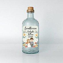 Papiernictvo - Nálepky na svadobné fľaše párik 4 - 12079275_
