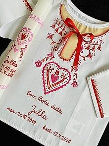 Detské oblečenie - Maľovaná košieľka ku krstu - 12080025_