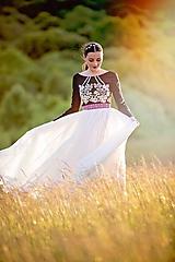 Šaty - dlhé plisované šaty Sága krásy - 12079681_