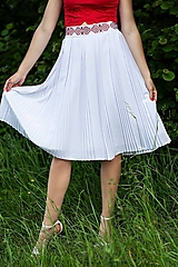 Sukne - plisovaná sukňa Sága krásy - 12079770_