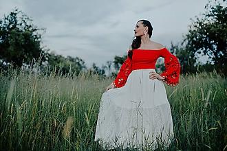 Sukne - dlhá plisovaná sukňa Sága krásy - 12079318_