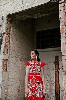 Šaty - krátke vyšívané šaty Sága krásy - 12079353_