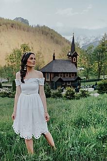 Šaty - Biele madeirové Sága krásy - 12079421_