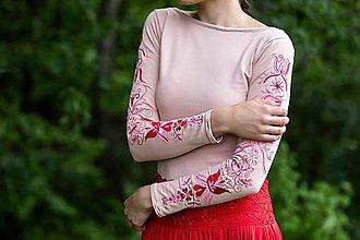 Tričká - vyšívané tričko Sága krásy - 12079761_