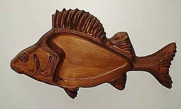 Nádoby - Drevorezba Ryba miska 2 - 12080070_