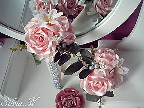 Dekorácie - Ruže v kornútku. - 12079393_