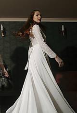 Šaty - Svadobné šaty s dlhým rukávom a kruhovou sukňou - 12079344_