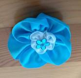Ozdoby do vlasov - Modrý kvet - 12080913_