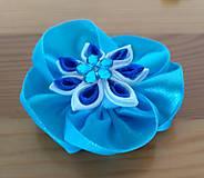 Ozdoby do vlasov - Modrý kvet - 12080920_