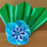 Ozdoby do vlasov - Modrý kvet - 12080940_