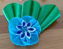 Ozdoby do vlasov - Modrý kvet - 12080942_