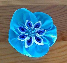 Ozdoby do vlasov - Modrý kvet - 12080919_