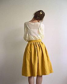 Sukne - Ľanová sukienka - 12080532_