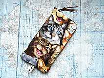 """Na mobil - Selfie Cats ..."""" púzdro na mobil """" L"""" - 12082786_"""
