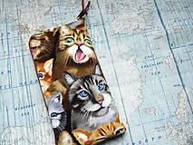 """Na mobil - Selfie Cats ..."""" púzdro na mobil """" L"""" - 12082787_"""