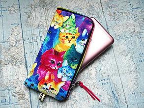"""Na mobil - Color Cats ..."""" púzdro na mobil """" L"""" - 12082776_"""