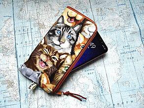 """Na mobil - Selfie Cats ..."""" púzdro na mobil """" L"""" - 12082783_"""