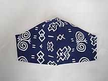 Rúška - Dizajnové rúško prémiová bavlna antibakteriálne s časticami striebra dvojvrstvové tvarované (Čičmany) - 12084535_