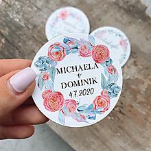 Darčeky pre svadobčanov - Magnetky pre svadobčanov venček 19 - 12082198_