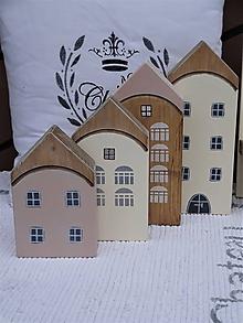 Dekorácie - Sada drevených domčekov - 12082993_
