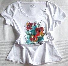 Tričká - Kvety makov (42) - 12082288_