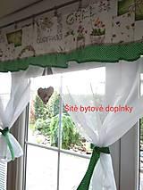 Úžitkový textil - Záclona  jarná - 12082517_