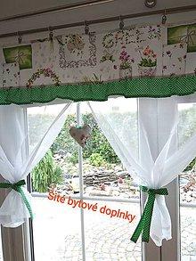 Úžitkový textil - Záclona  jarná - 12082518_