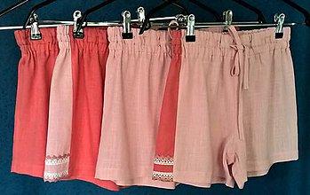 Nohavice - Detské krátke nohavice s čipkou - 12082167_