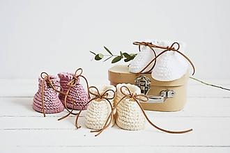 Topánočky - Bavlnené papučky pre bábätko - 12083849_