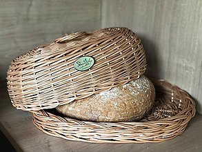 Nádoby - Prútený chlebnik  - 12083904_