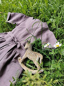 Detské oblečenie - Detské ľanové šatôčky - 12082725_