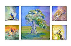 Obrazy - Vtáčí strom - 12083506_