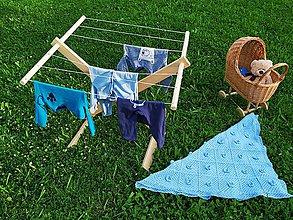 Hračky - Montessori drevený sušiak,Drevený detský sušiak bielizne,sušiak na prádlo pre deti,drevený sušiak,prírodná hračka - 12084514_
