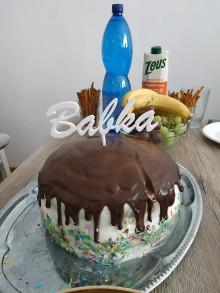 Dekorácie - Zapichovačka na tortu s vlastným textom - 12083999_