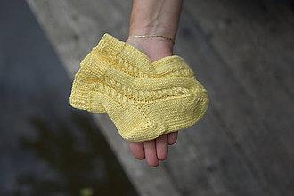 Topánočky - detské s osmičkovým vzorom - žlté ( v.22-23) - 12083947_