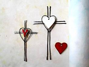 Dekorácie - Tepaný krížik - biely*23,5cm - 12082859_