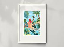 Grafika - Tukan - umělecký tisk, A4 - 12085486_