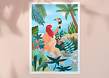 Grafika - Tukan - umělecký tisk, A4 - 12085488_