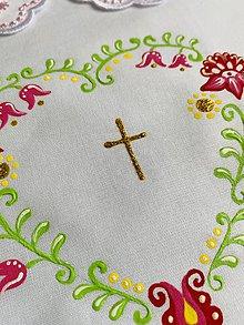 Detské oblečenie - Maľovaný set ku krstu- košieľka so sviečkou - 12085627_