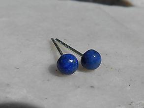 Náušnice - lapis lazuli mimi napich.naušnice-ch.oceľ - 12085519_
