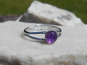Prstene - ametyst ring - 12085566_