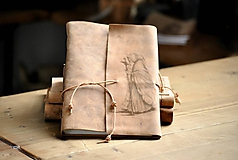 Papiernictvo - kožený zápisník PILGRIM - 12086545_