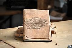 Papiernictvo - kožený zápisník ZEPPELIN - 12086603_
