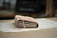 Papiernictvo - kožený zápisník BALOON - 12086637_