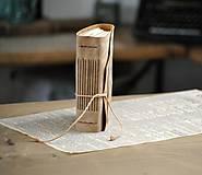 Papiernictvo - kožený zápisník BALOON - 12086639_