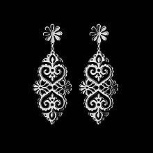 Náušnice - Náušnice ornament srdce - Trakovice - 12085872_