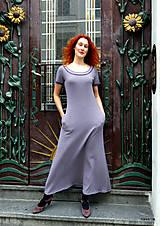 Šaty - Marina-bavlněné maxi šaty s kapsami - 12084802_